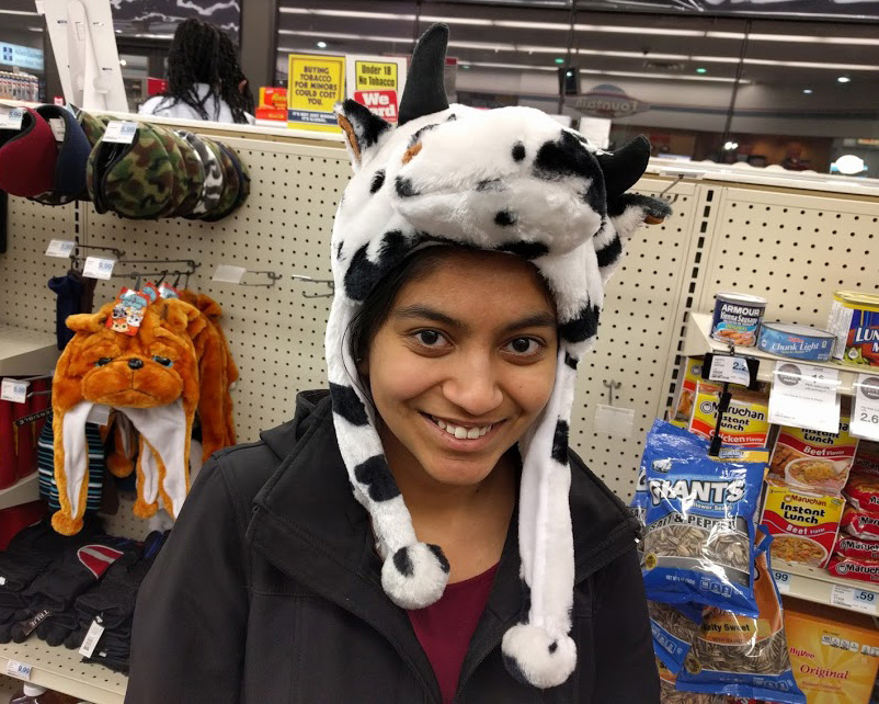 Heeral in a cow hat